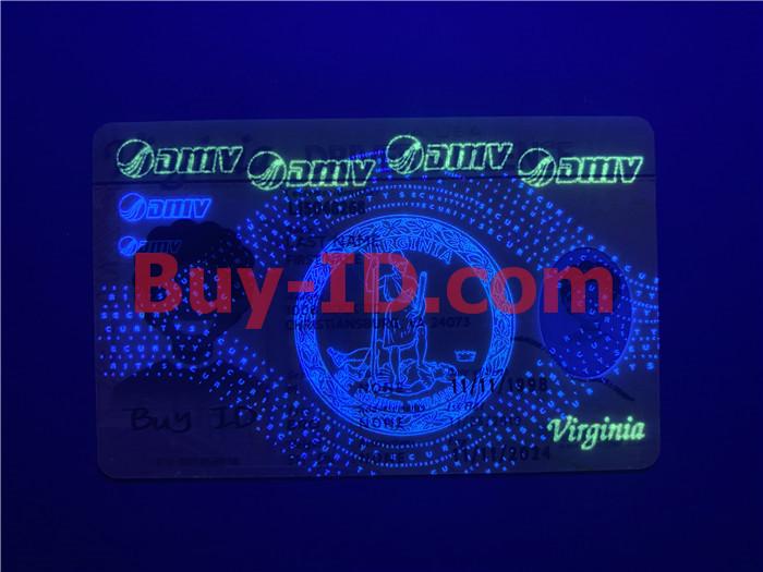Premium Scannable Virginia State Fake ID Card UV Anti-Counterfeiting Layer