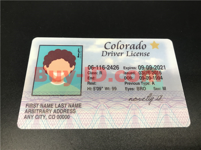 Premium Scannable Old Colorado State Fake ID Card Positive Display