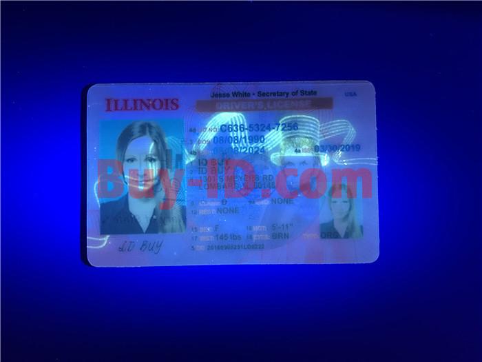 Premium Scannable New Illinois State Fake ID Card UV Anti-Counterfeiting Layer