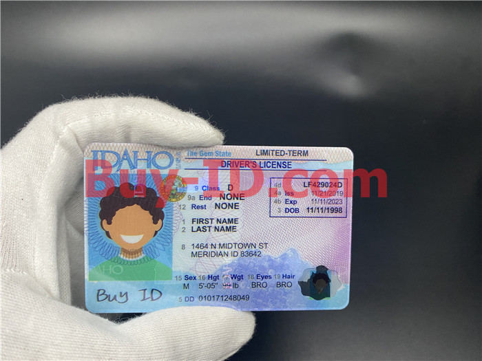 Premium Scannable Idaho State Fake ID Card Hologram Display