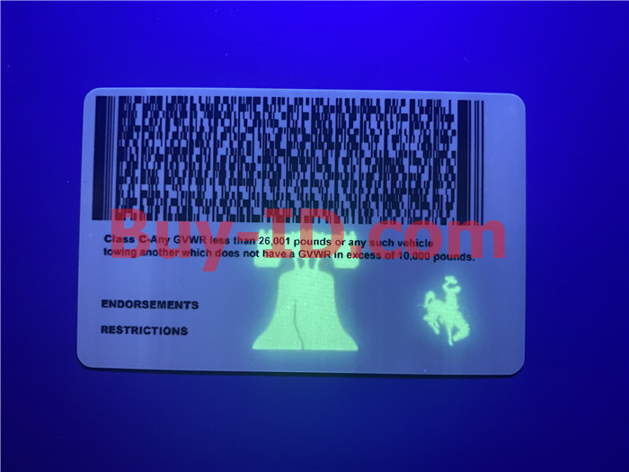 Premium Scannable Wyoming State Fake ID Card UV Anti-Counterfeiting Layer 2
