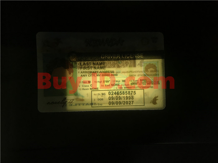 Premium Scannable Nevada State Fake ID Card Laser Micro-Perforation