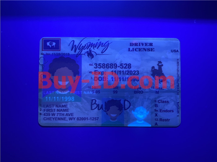 Premium Scannable Wyoming State Fake ID Card UV Anti-Counterfeiting Layer