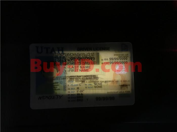 Premium Scannable Utah State Fake ID Card Laser Micro-Perforation