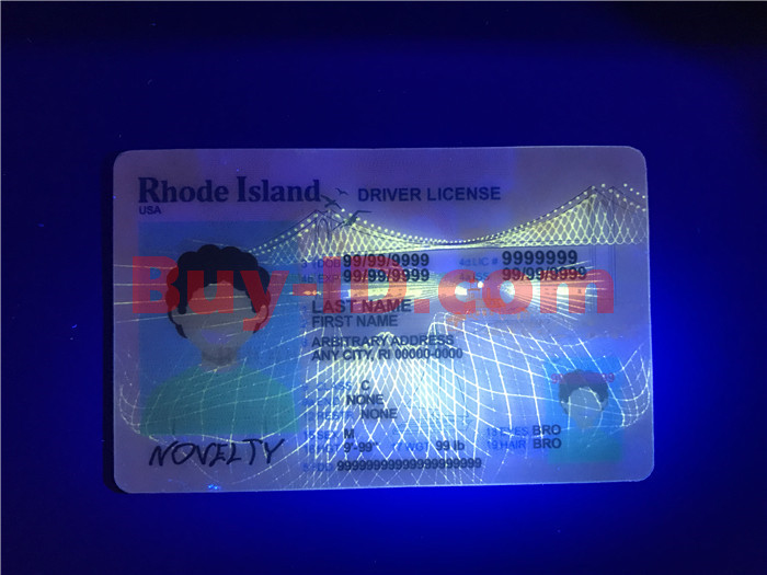 Premium Scannable New Rhode Island State Fake ID Card UV Anti-Counterfeiting Layer