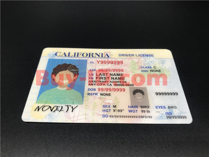 Premium Scannable Old California State Fake ID Card Positive Display