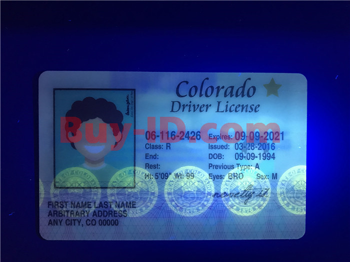 Premium Scannable Old Colorado State Fake ID Card UV Anti-Counterfeiting Layer