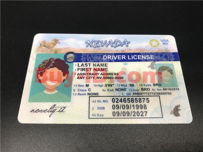 Premium Scannable Nevada State Fake ID Card Positive Display