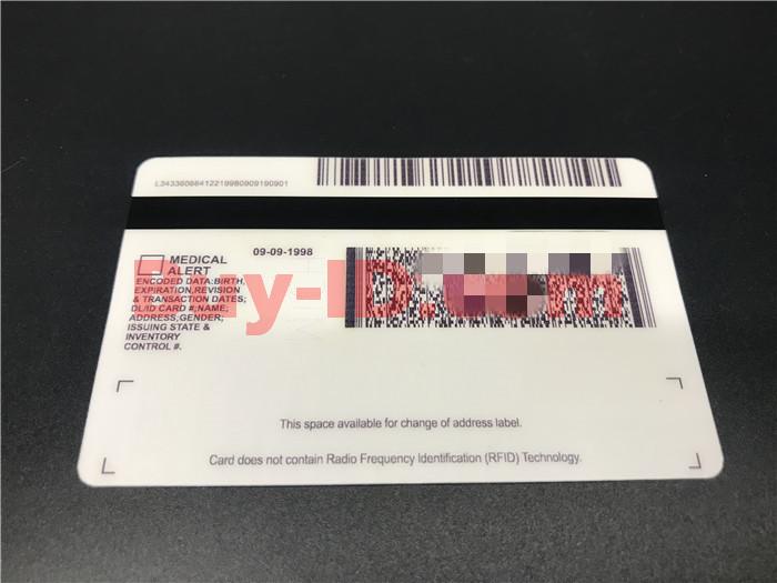 Premium Scannable Michigan State Fake ID Card Back Display