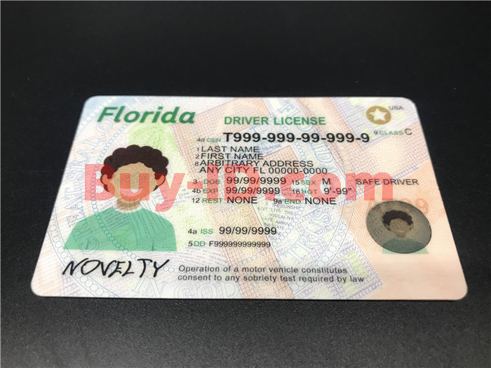 Premium Scannable Florida State Fake ID Card Positive Display