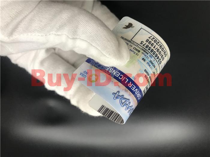 Premium Scannable Nevada State Fake ID Card Bending Display