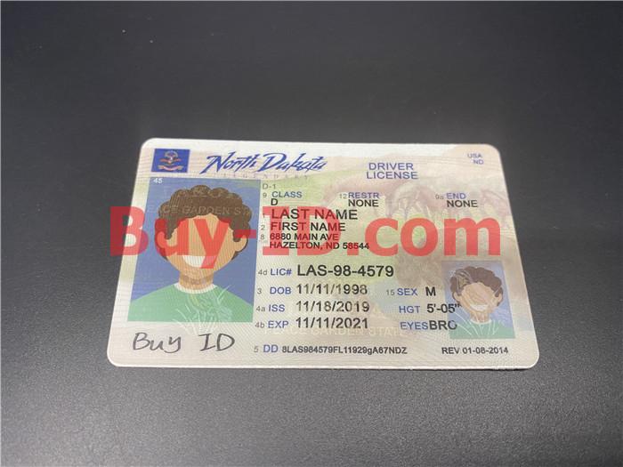Premium Scannable North Dakota State Fake ID Card Positive Display