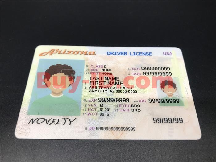 Premium Scannable Arizona State Fake ID Card Positive Display