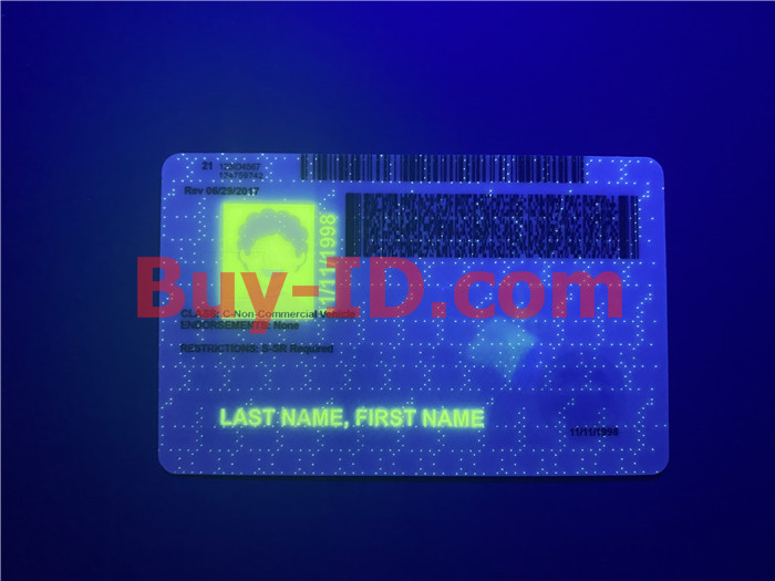 Premium Scannable Iowa State Fake ID Card UV Anti-Counterfeiting Layer 2