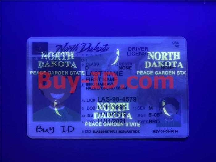 Premium Scannable North Dakota State Fake ID Card UV Anti-Counterfeiting Layer
