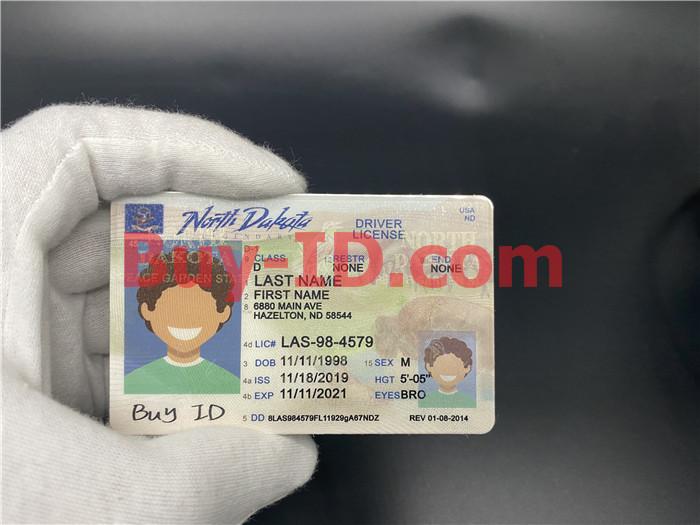 Premium Scannable North Dakota State Fake ID Card Hologram Display