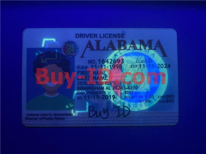 Premium Scannable Alabama State Fake ID Card UV Anti-Counterfeiting Layer