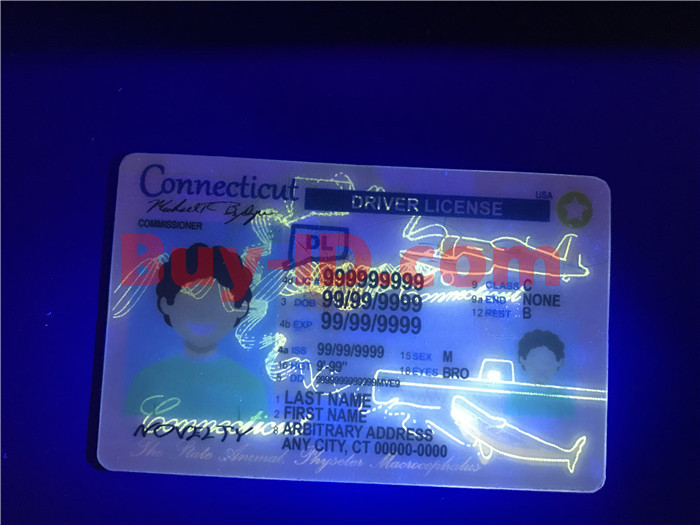 Premium Scannable New Connecticut State Fake ID Card UV Anti-Counterfeiting Layer