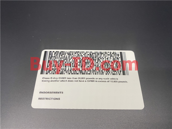 Premium Scannable Wyoming State Fake ID Card Back Display