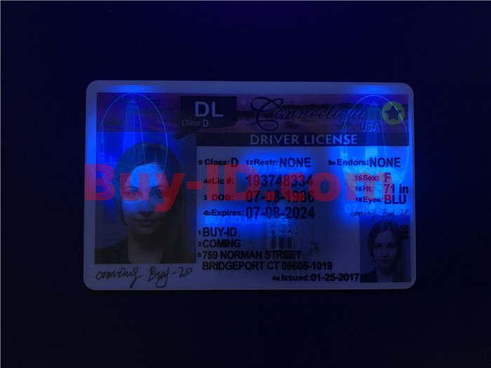 Premium Scannable Old Connecticut State Fake ID Card UV Anti-Counterfeiting Layer