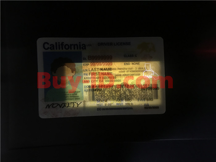 Premium Scannable New California State Fake ID Card Laser Micro-Perforation