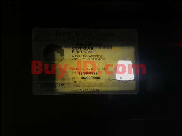 Premium Scannable New York State Fake ID Card Small Transparent Window