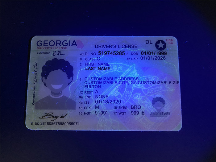 Premium Scannable New Georgia State Fake ID Card UV Anti-Counterfeiting Layer